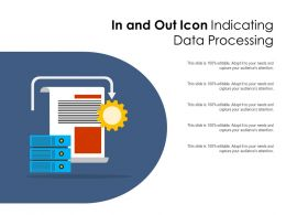In And Out Icon Indicating Data Processing