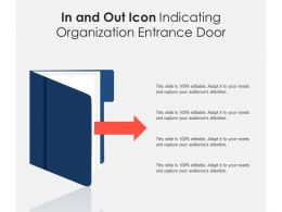 In And Out Icon Indicating Organization Entrance Door
