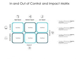 In And Out Of Control And Impact Matrix