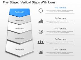 In Five Staged Vertical Steps With Icons Powerpoint Template