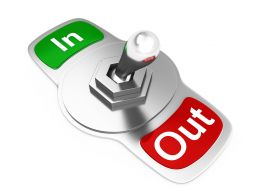 In Out Switch For Business Inventory Stock Photo
