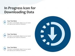 In Progress Icon For Downloading Data