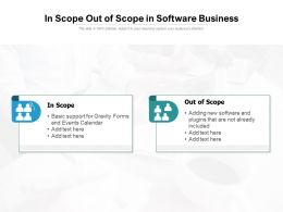 In Scope Out Of Scope In Software Business