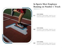 In Sports Meet Employee Running On Number 1 Track