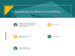 In Store Cross Selling Agenda For In Store Cross Selling Ppt Powerpoint Presentation Model Graphics