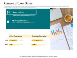 In Store Cross Selling Causes Of Low Sales Ppt Powerpoint Presentation Summary Slides