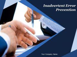 Inadvertent Error Prevention Powerpoint Presentation Slides