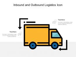 Inbound And Outbound Logistics Icon
