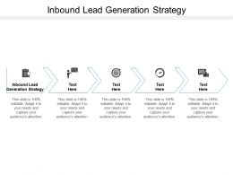 Inbound Lead Generation Strategy Ppt Powerpoint Presentation Infographics Influencers Cpb