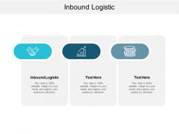 Inbound Logistic Ppt Powerpoint Presentation Gallery Design Templates Cpb