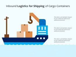 Inbound Logistics For Shipping Of Cargo Containers