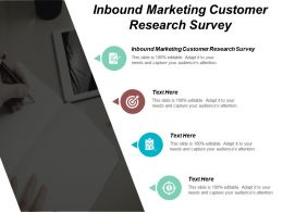 Inbound Marketing Customer Research Survey Ppt Powerpoint Presentation Infographics Format Ideas Cpb