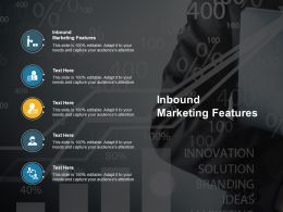 Inbound Marketing Features Ppt Powerpoint Presentation Icon Visuals Cpb