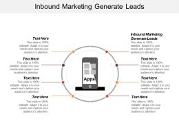 Inbound Marketing Generate Leads Ppt Powerpoint Presentation Ideas Inspiration Cpb