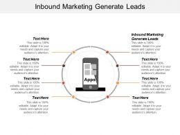 Inbound Marketing Generate Leads Ppt Powerpoint Presentation Ideas Inspiration Cpb