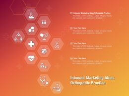 Inbound Marketing Ideas Orthopedic Practice Ppt Powerpoint Presentation Show Outfit