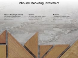 Inbound Marketing Investment Ppt Powerpoint Presentation Outline Clipart Cpb