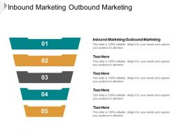Inbound Marketing Outbound Marketing Ppt Powerpoint Presentation Infographic Template Sample Cpb