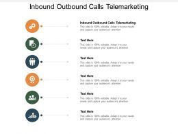 Inbound Outbound Calls Telemarketing Ppt Powerpoint Presentation Inspiration Infographics Cpb