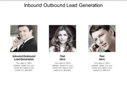 Inbound Outbound Lead Generation Ppt Powerpoint Presentation Ideas Model Cpb