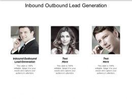 Inbound Outbound Lead Generation Ppt Powerpoint Presentation Ideas Model Cpb