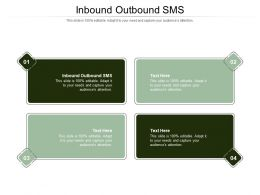 Inbound Outbound SMS Ppt Powerpoint Presentation Pictures Model Cpb