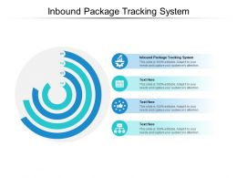 Inbound Package Tracking System Ppt Powerpoint Presentation Inspiration Slide Cpb