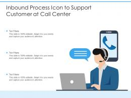 Inbound Process Icon To Support Customer At Call Center