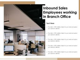 Inbound Sales Employees Working In Branch Office