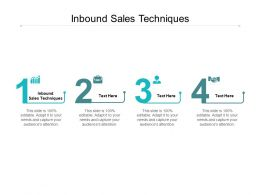 Inbound Sales Techniques Ppt Powerpoint Presentation Portfolio Template Cpb