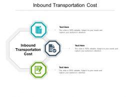 Inbound Transportation Cost Ppt Powerpoint Presentation Slides Smartart Cpb