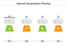 Inbound Transportation Planning Ppt Powerpoint Presentation Outline Cpb