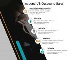 Inbound Vs Outbound Sales Ppt Powerpoint Presentation Pictures Display Cpb