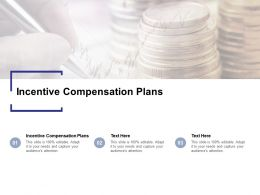 Incentive Compensation Plans Ppt Powerpoint Presentation Model Background Cpb