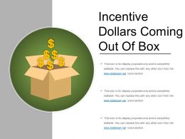 Incentive Dollars Coming Out Of Box