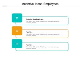 Incentive Ideas Employees Ppt Powerpoint Presentation Layouts Summary Cpb