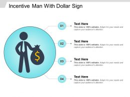Incentive Man With Dollar Sign