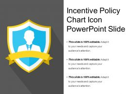 Incentive Policy Chart Icon Powerpoint Slide