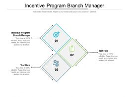 Incentive Program Branch Manager Ppt Powerpoint Presentation Ideas Example Introduction Cpb