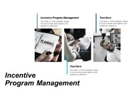 Incentive Program Management Ppt Powerpoint Presentation File Visuals Cpb