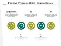 Incentive Programs Sales Representatives Ppt Powerpoint Presentation Pictures File Formats Cpb