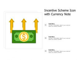 Incentive Scheme Icon With Currency Note