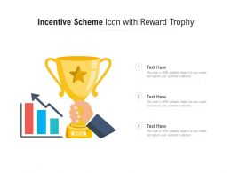 Incentive Scheme Icon With Reward Trophy