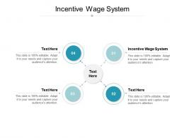 Incentive Wage System Ppt Powerpoint Presentation Summary Graphic Images Cpb