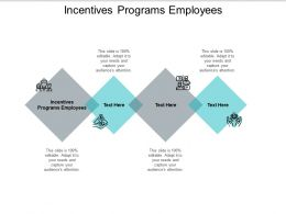 Incentives Programs Employees Ppt Powerpoint Presentation Infographic Cpb