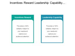 Incentives Reward Leadership Capability Standardized Process Data Structure Control