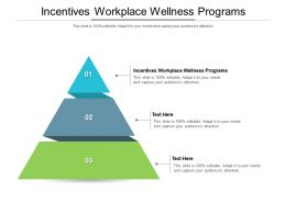 Incentives Workplace Wellness Programs Ppt Powerpoint Presentation Outline Deck Cpb