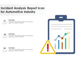 Incident Analysis Report Icon For Automotive Industry