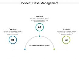 Incident Case Management Ppt Powerpoint Presentation File Templates Cpb