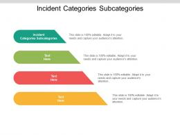 incident categories subcategories ppt powerpoint presentation layouts template cpb